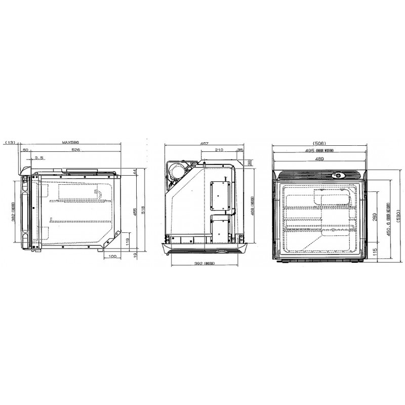 Engel Schwingkompressor Einbau Kühlschrank 55/57 Liter 12V/24 -2 ...