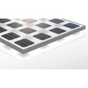 Module solaire 24 volts 255 watts stratifié transparent avec cadre