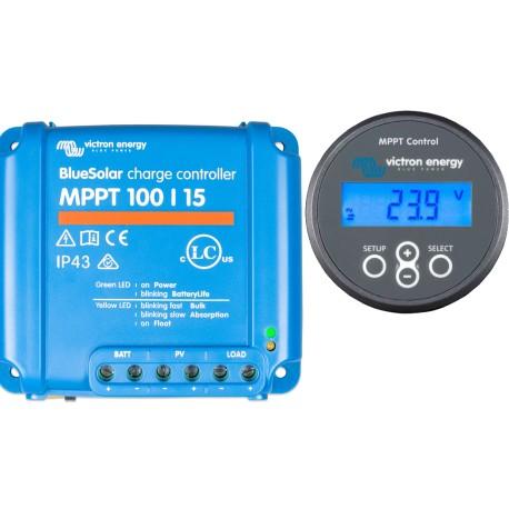 MPPT solaire contrôleurs de charge 100V 15 Amp avec affichage
