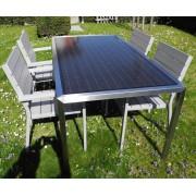 Solaire table de jardin 8 personnes 310 Watt