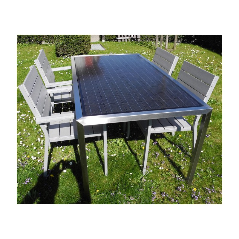 solaire table de jardin 8 personnes 310 watt solarenergy shop. Black Bedroom Furniture Sets. Home Design Ideas
