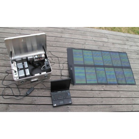Solar Suitcase type Worker 62W-40Ah-350W-18kg