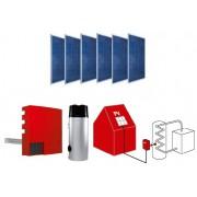 système compact de PV solaire pour l'eau chaude sanitaire