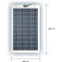 SunWare 35/1 semiflexible Solarzellen 35 Watt 24 Volt 3mm dünn 5.6 Kg