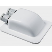 Waterproof double-cable roof outlet