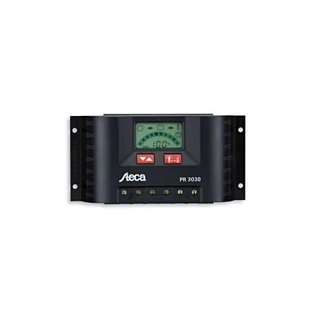 Contrôleur de charge solaire 12V / 24V 30 Ampères écran LCD Steca
