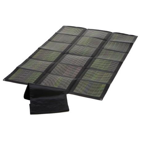 60 watts de panneaux solaires portables repliés
