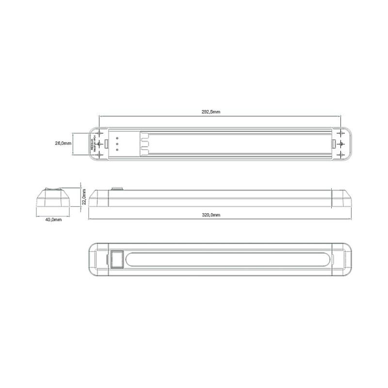Superhelle LED Lampe 7 Watt 600 Lumen 12/24V mit Schalter ...