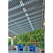Solar modules transparent pour jardin d'hiver translucide