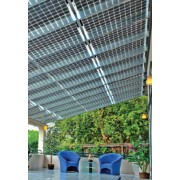 Solar modules for winter garden, transparent and translucent