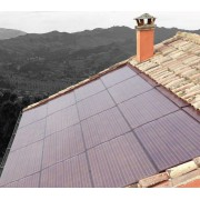 Colored solar modules for building integration or special applications