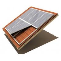 Système de fixation pour pente système toits d'insertion avec des crochets de toit
