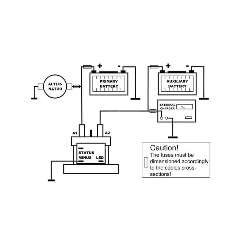 Verbindungsrelais für Zweitbatterie auf Wohnmobilen und Booten ...