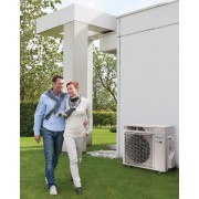 Riscaldamento a pompa di calore super efficiente COP 5,7 con capacità di riscaldamento da 5,0 kW
