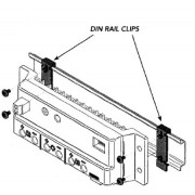 Morningstar DIN rail clips for SunSaver / SunLight