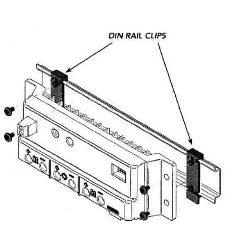 Morningstar DIN clips de rail pour SunSaver / SunLight