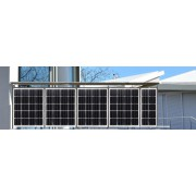 Solar balcony railings