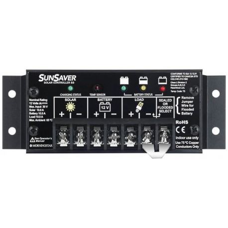 Morningstar SunSaver SS-10 Solarladeregler, 170 W, 10 A, 12 V
