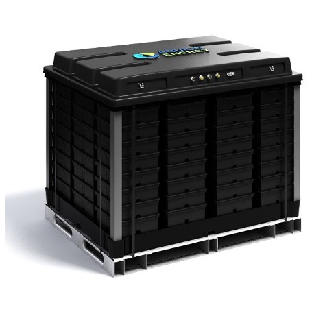 Lithium Ion Battery 12V 40Ah 200A with integrated BMS incl. 230V charger