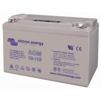 Batteria esente da manutenzione AGM da12 Volt, 110 Ah C 20 per duri cicli di funzionamento
