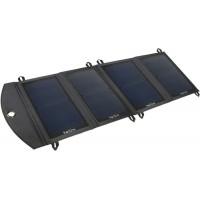 Chargeur solaire 21 Watt 2xUSB 2 ampères pliable