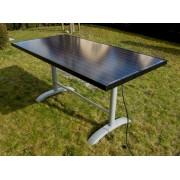 Solaire table de jardin 6 personnes 300 Watt