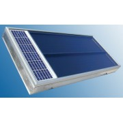 Solar Air Heating Solar Twin 2.0 for alpine huts, hunting lodges, etc.