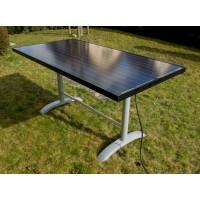 Table de bistrot solaire POWER-EDITION 380 watts à 6 personnes - Fabrication suisse! Version PRO avec application mobile