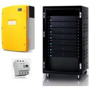 Immagazzinamento di energia solare per l'auto-consumo con connessione al rete